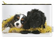 Puppies With Tinsel Carry-all Pouch