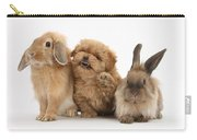 Puppy And Rabbits Carry-all Pouch