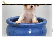 Puppy In A Pot Carry-all Pouch by Jane Burton
