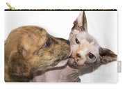 Puppy Kissing Alien Cat Carry-all Pouch