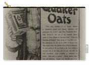 Pure Quaker Oates Carry-all Pouch by Bill Cannon