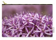Purple Allium Christophii Macro Carry-all Pouch