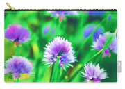 Purple And Green Chive Watercolor Carry-all Pouch