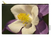 Purple And White Columbine Blossom Facing The Sun - Aquilegia Carry-all Pouch