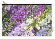 Purple And White Foxglove Square Carry-all Pouch