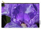 Purple And White Stiped Iris Carry-all Pouch