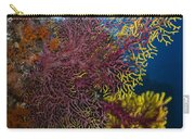 Purple And Yellow Sea Fan In Raja Carry-all Pouch