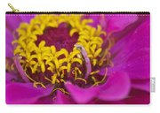 Purple And Yellow Zinnia_9483_4275 Carry-all Pouch