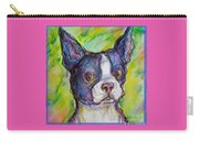 Purple Boston Terrier Carry-all Pouch