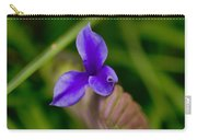 Purple Bromeliad Flower Carry-all Pouch by Douglas Barnard