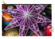 Purple Christmas Star Carry-all Pouch