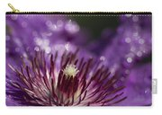 Purple Clematis And Bokeh Carry-all Pouch