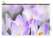Purple Crocus Blossoms Carry-all Pouch