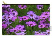 Purple Daisies Square Carry-all Pouch