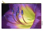 Purple Daylily Carry-all Pouch