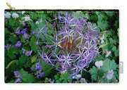 Purple Flower Sphere Carry-all Pouch