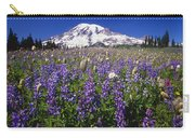 Purple Flowers Blooming Beneath Mount Carry-all Pouch
