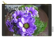 Purple Flowers In The Bubble Carry-all Pouch