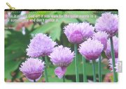 Purple Flowers In The Field Carry-all Pouch