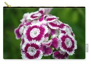 Purple On White Flowers Carry-all Pouch