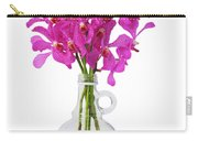 Purple Orchid In Bottle Carry-all Pouch by Atiketta Sangasaeng