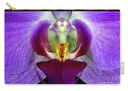 Purple Orchid Macro Carry-all Pouch