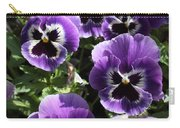 Purple Pansies Square Carry-all Pouch