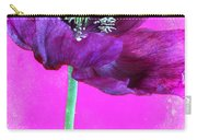 Purple Poppy On Pink Carry-all Pouch