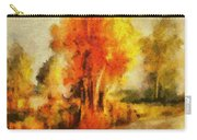 Purple Smoke Tree Carry-all Pouch