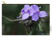 Purple Spiderwort Flowers Carry-all Pouch