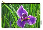 Purple Water Iris Carry-all Pouch