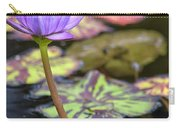 Purple Water Lilly Carry-all Pouch