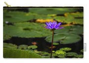 Purple Waterlily Carry-all Pouch