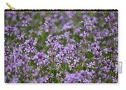Purple Wildflowers Square Carry-all Pouch