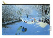 Pushing The Sledge Carry-all Pouch by Andrew Macara