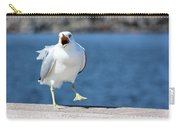 Putting His Foot Down Carry-all Pouch by Kristin Elmquist