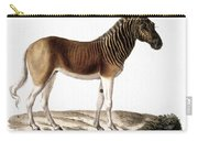 Quagga (equus Quagga) Carry-all Pouch