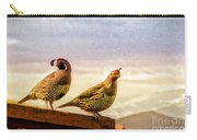 Quail And His Lady Carry-all Pouch