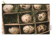 Quail Eggs In Box Carry-all Pouch