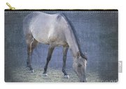 Quarter Horse In Blue Carry-all Pouch by Betty LaRue