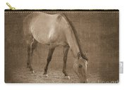 Quarter Horse In Sepia Carry-all Pouch by Betty LaRue