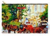 Quebec City Street Scene The Red Caleche Carry-all Pouch