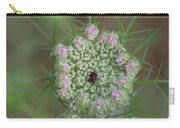 Queen Anne's Lace Flower Partly Open With Dew Carry-all Pouch
