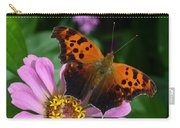 Question Mark Butterfly And Zinnia Flower Carry-all Pouch