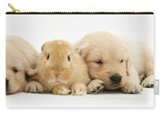Rabbit And Puppies Carry-all Pouch