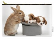 Rabbit And Spaniel Pups Carry-all Pouch