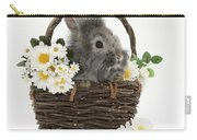 Rabbit In A Basket With Flowers Carry-all Pouch