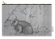 Rabbit In Woodland Carry-all Pouch