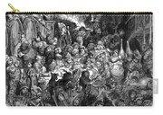 Rabelais: Gargantua And Pantagruel.  Illustration Of The Life Of Gargantua And Of Pantagruel By Fran�ois Rabelais. Wood Engraving, 1873, After Gustave Dor� Carry-all Pouch