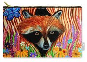 Raccoon And Butterfly Carry-all Pouch